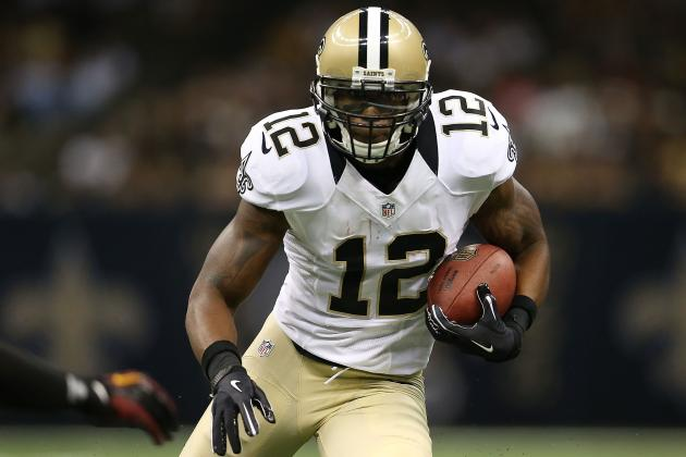Marques Colston: Fantasy Stats to Expect from Injured Saints WR vs. Chiefs