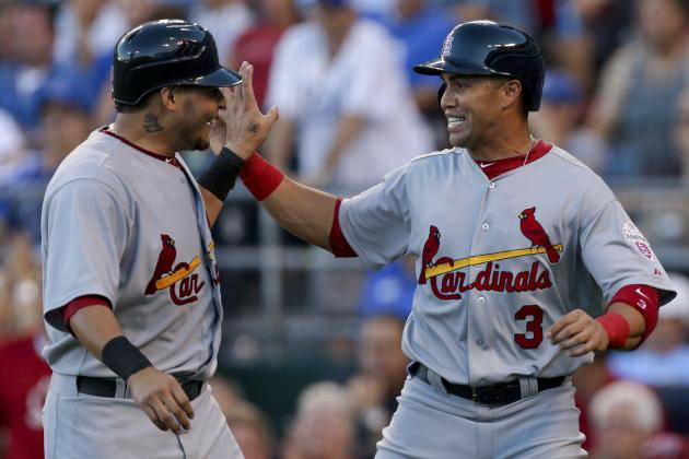 Yadier Molina and Carlos Beltran Both Out for Finale vs. Cubs