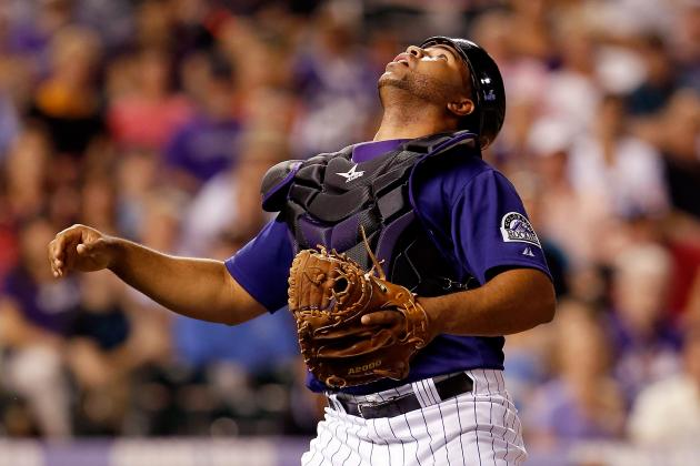 Rockies' Wilin Rosario Will Work on Catching Drills in Offseason