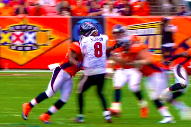 Matt Schaub Hit: Houston Texans QB Gets Crushed by Joe Mays