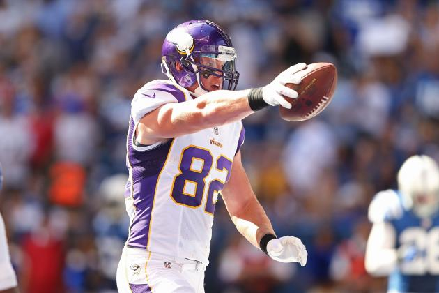Kyle Rudolph: Heavily-Targeted Vikings' TE Is Solid Starting Fantasy Option