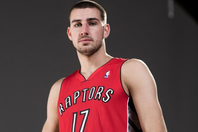 Raptors Rookie Valanciunas Suffers Mild Left Calf Strain