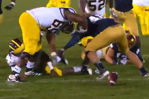 Michigan-Notre Dame in 140 characters (and a video)