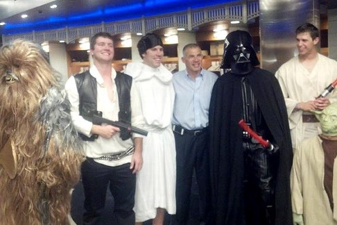 NY Yankees Haze Rookies by Taking on Dark Side of Star Wars