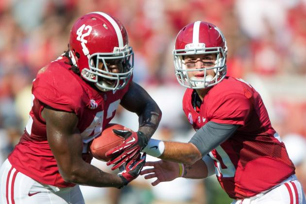 2012 College Football Week 5 Power Rankings: Alabama Gunning for Repeat