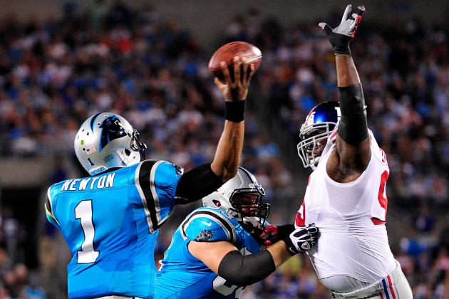 Cam Newton, Carolina Panthers Not Ready for Prime Time vs. New York Giants