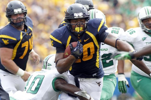 WVU RB Alston Day-to-Day with Thigh Bruise