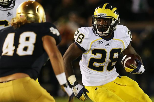 Michigan Football: Wolverines Need to Use RB Fitzgerald Toussaint More
