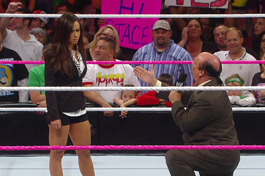 WWE: Will AJ Lee's Slap on Paul Heyman Lead to Her Removal as Raw GM?