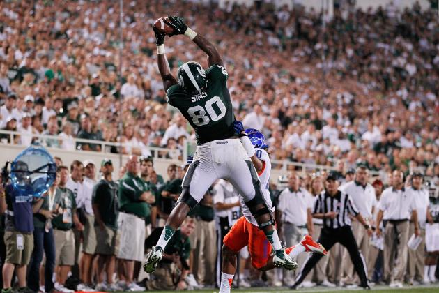 MSU's Dion Sims Receives John Mackey Weekly Honor After Career Performance
