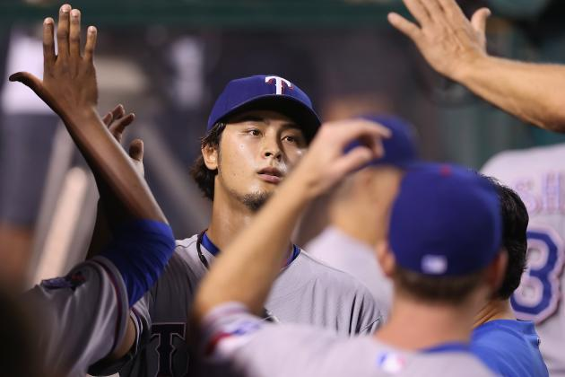 Darvish on Track to Go for Rangers on Sunday