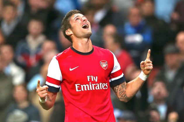 Olivier Giroud's Goal Scoring Start Will Be Vital for Arsenal's EPL Title Hopes
