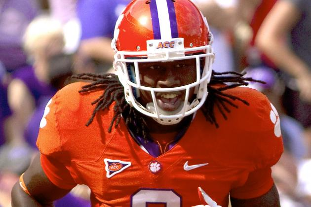 Sammy Watkins: Clemson WR out vs. Boston College with Stomach Virus