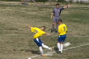 First-Kick Goal in Serbian Match