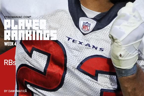 2012 Fantasy Football: Week 4 Running Back Rankings