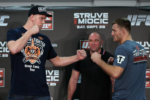 UFC on Fuel TV 5: Weigh-in Results for Stefan Struve vs. Stipe Miocic Fight Card