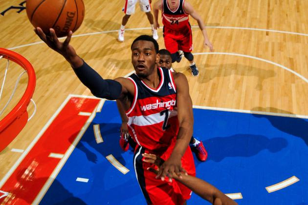 John Wall: Wizards' Star Expected to Miss 8 Weeks with Patella Injury