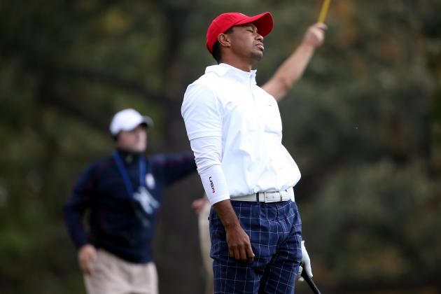 Tiger Woods Ryder Cup 2012: Poor Opening Foursome Leaves Room for Dramatics