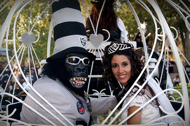 Gorilla Rilla and His Bride Celebrate with Raider Nation
