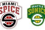 Bikini Basketball League Team Steals Supersonics Logo
