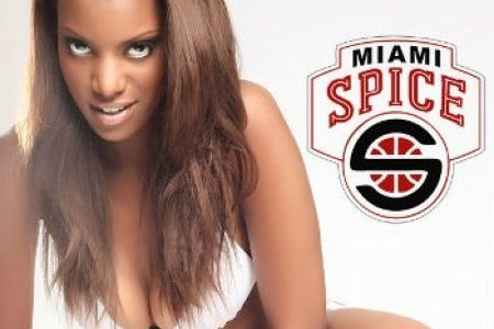 Bikini Basketball League's Miami Spice Steal Seattle SuperSonics' Logo