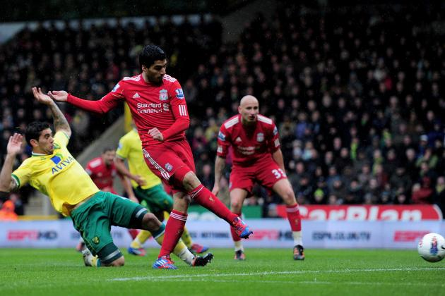 Norwich City 2-5 Liverpool: Luis Suarez Scores Hat-Trick in First Liverpool Win