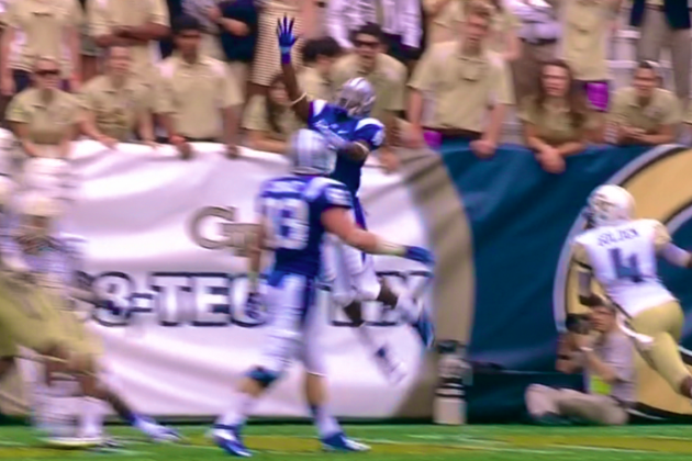 Middle Tennessee State WR Makes Unbelievable 1-Handed Touchdown Catch