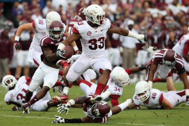 Texas A&M Embarrasses Reeling Arkansas 58-10