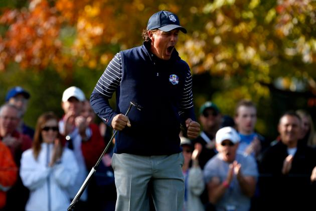 2012 USA Ryder Cup Team: Hottest American Golfers Headed into Singles Matchups