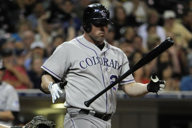 Jason Giambi, Tyler Colvin Join Battery of Injured Players on Bench