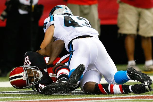 Carolina Panthers Trail Atlanta Falcons 17-14: First-Half Recap