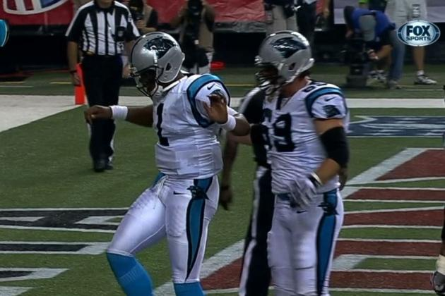 Cam Newton Does the 'A-Town Stomp' in Atlanta