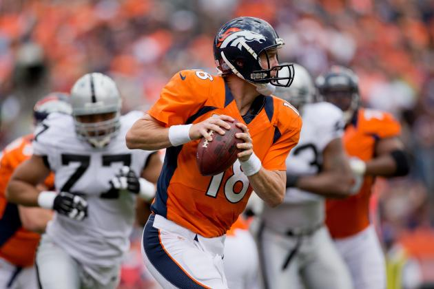 Raiders vs. Broncos: Manning, Broncos Near Perfect in 37-6 Blowout Win