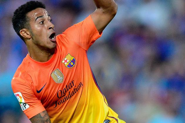 Barca's Thiago out for Eight Weeks