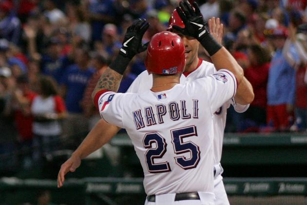 """Mike Napoli """"Plays with a Vengeance"""" Against the Angels"""