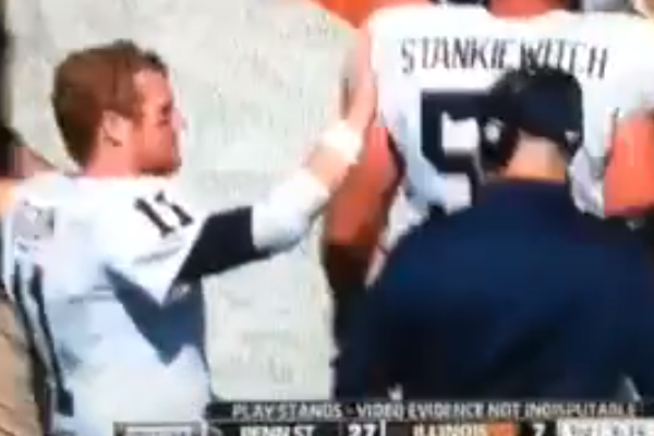 Bill O'Brien leaves Matt McGloin hanging (VIDEO)