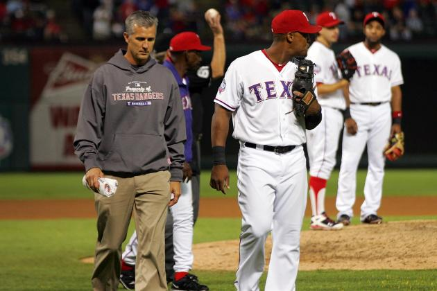 Adrian Beltre Returns to Lineup After Injuring Shoulder