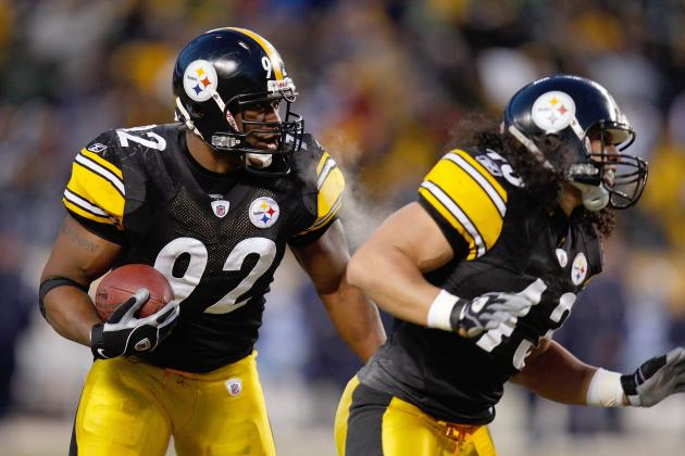 James Harrison, Troy Polamalu Practice on Monday
