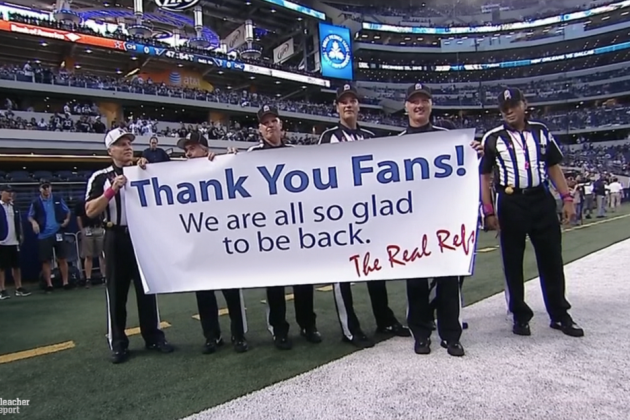 'The Real Refs' Thank Fans on MNF