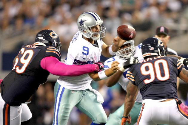 Bears vs. Cowboys: Tony Romo Throws 5 INT as Chicago Cruises to 34-18 Win