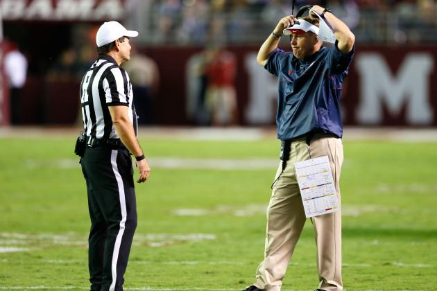 Do You Buy the SEC's Explanation of Controversial Spot in Ole Miss vs. Alabama?