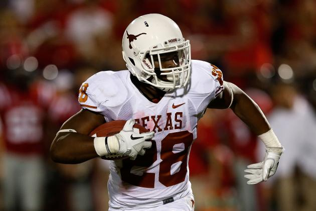 Texas RB Brown (ankle) out vs. West Virginia