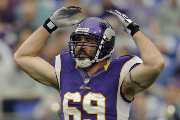 Jared Allen Held out of Practice, Christian Ponder Limited for Vikings