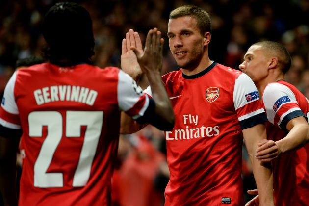 Gervinho and Lukas Podolski Partnership Helping Arsenal Forget Robin Van Persie