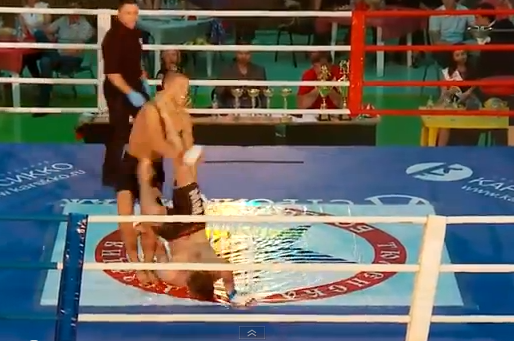 MMA Rolling Head-Kick Knockout Is Pretty Much Legendary