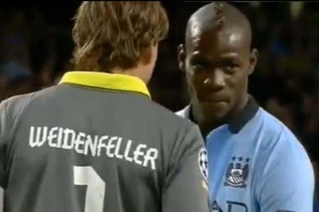 Mario Balotelli shuts up whispering Dortmund keeper with stuttering penalty