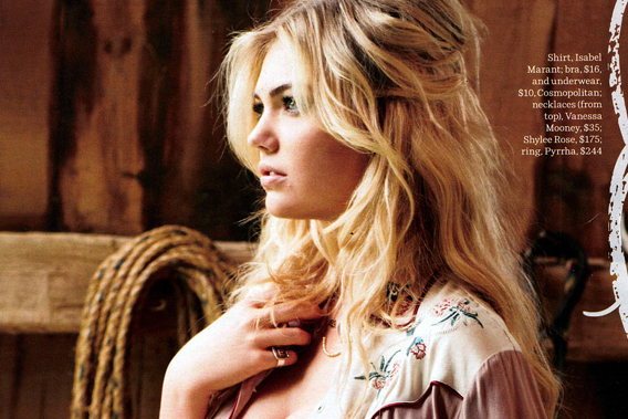 Kate Upton's New Photoshoot Goes Western