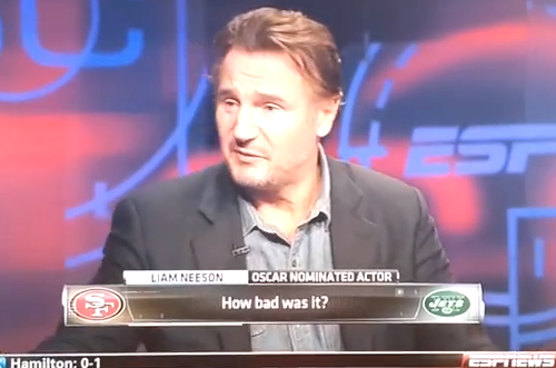 Liam Neeson's SportsCenter Interview Was Awkward with a Side of Uncomfortable