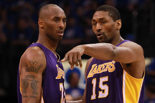 Kobe Says Metta World Peace in the Best Shape Since His Indiana Days