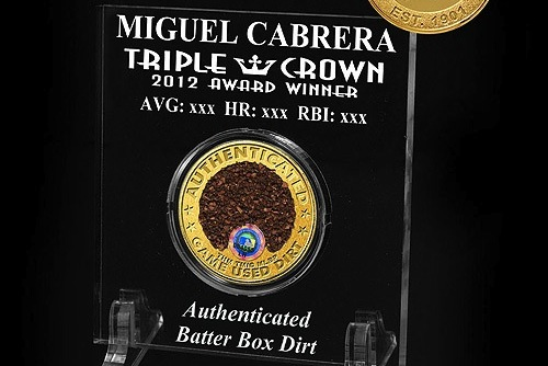 For Sale: Authenticated Triple-Crown ... Dirt